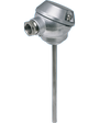 JUMO HEATtemp Push-In RTD Temperature Probe for Heat and Cold Meter with Terminal Head for Thermowells, Type PL (902434)